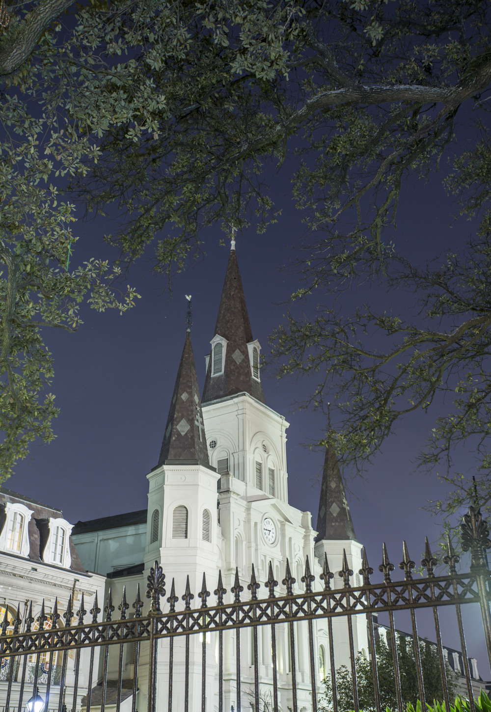 St. Louis Cathedral at night. ©Zack Smith Photography