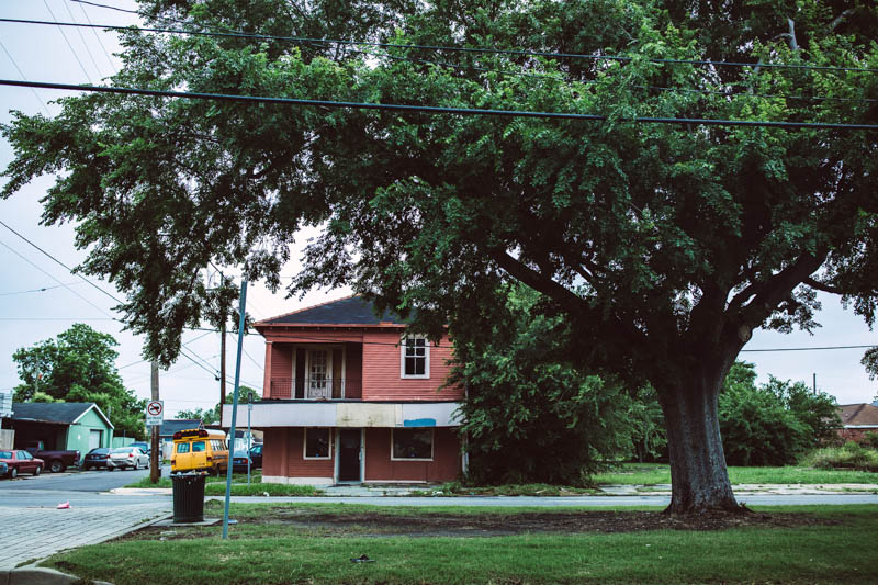 Zack Smith Photography New Orleans Tree Street House Weathered Buildings