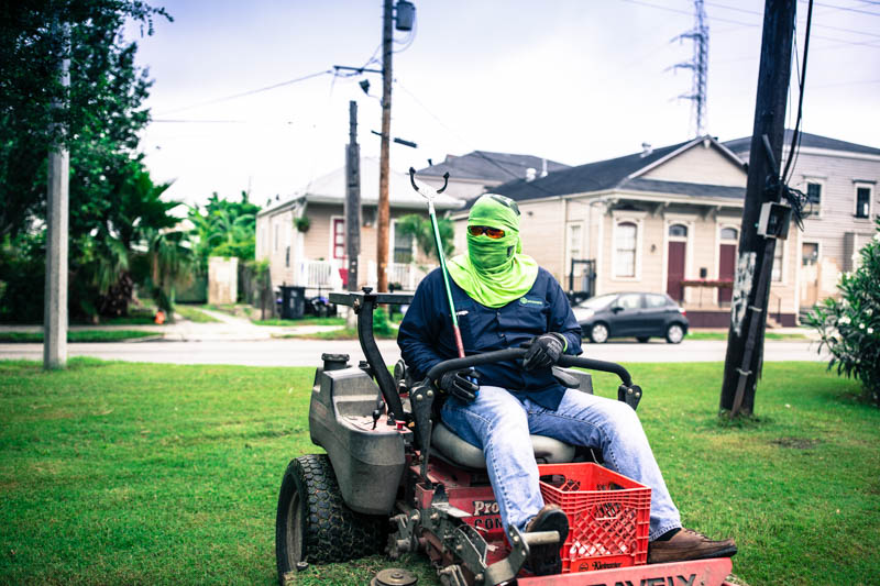 Zack Smith Photography New Orleans lawnmower