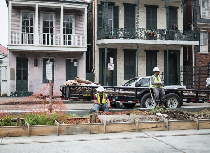 Zack Smith Photography New Orleans Construction workers ruins city street st. claude rampart street