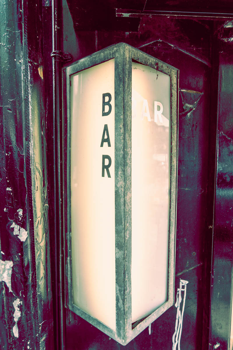 Zack Smith Photography New York City Retro Bar Sign