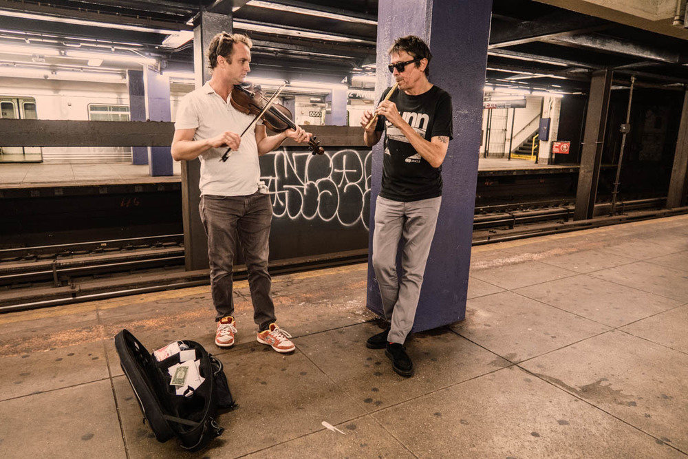 Zack Smith Photography New York City Pilette's Ghost Street Musician Fiddle woodwind instrument subways graffiti