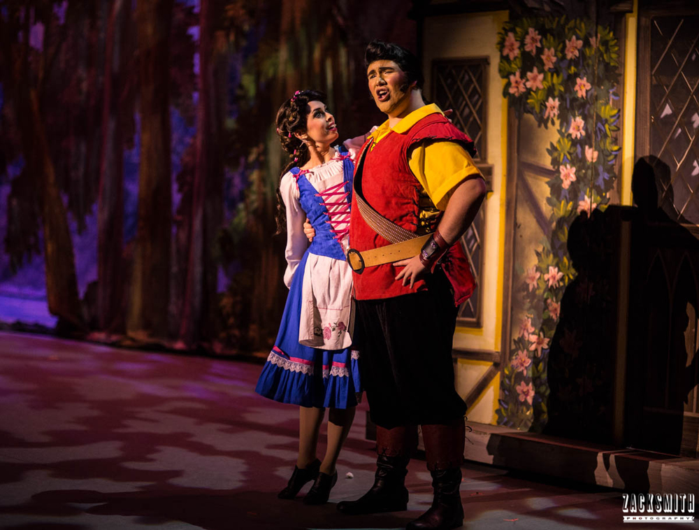 Beauty and the Beast The Performing Arts Academy Talent Performance Photography Zack Smith Photographer Chalmette Gaston and Belle Hero Pose Villain Musical Funny