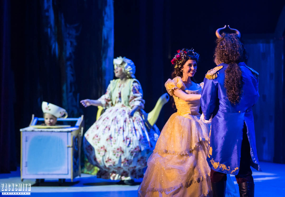 Beauty and the Beast The Performing Arts Academy Talent Performance Photography Zack Smith Photographer Chalmette Musical Theater Belle Beast Mrs. pots chip dance