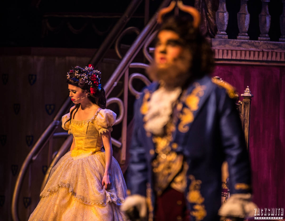 Beauty and the Beast The Performing Arts Academy Talent Performance Photography Zack Smith Photographer Chalmette Musical Theater Belle Beast