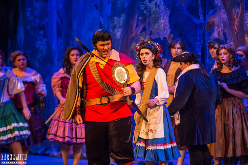 Beauty and the Beast The Performing Arts Academy Talent Performance Photography Zack Smith Photographer Chalmette Musical Theater Mob song Battle Gaston Belle villagers lefou