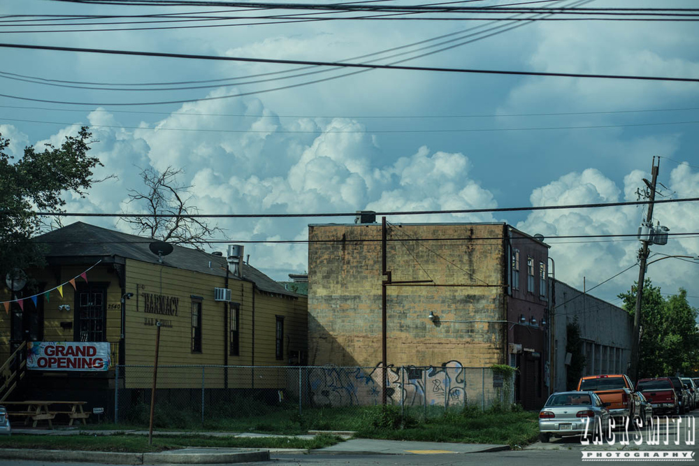 "Zack Smith Photography - ""Walking with the Prime"" photo gallery new orleans 85mm Louisiana photographer photo tips and techniques landscape clouds morning"