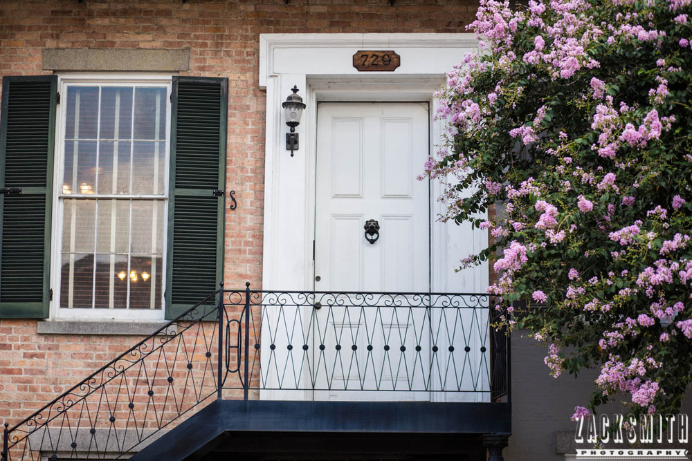 "Zack Smith Photography - ""Walking with the Prime"" photo gallery new orleans 85mm Louisiana photographer photo tips and techniques door porch flowers architecture"