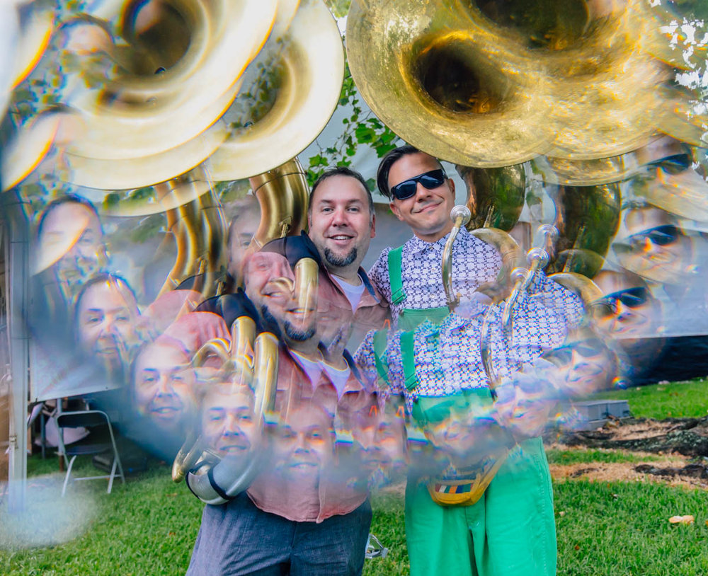 Pscyh-a-Tuba!!! Jon and Jason at French Quarter Fest shot through a Fractal Filter.