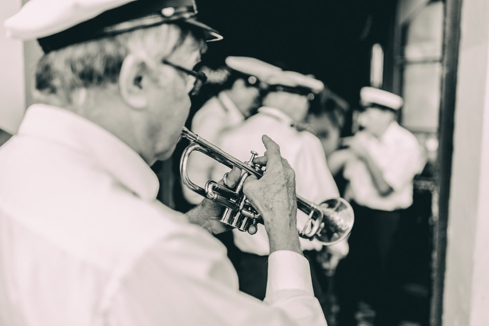 . Zack Smith Photography Workshops. The Storyville Brass Band, Bourbon Street, New Orleans.
