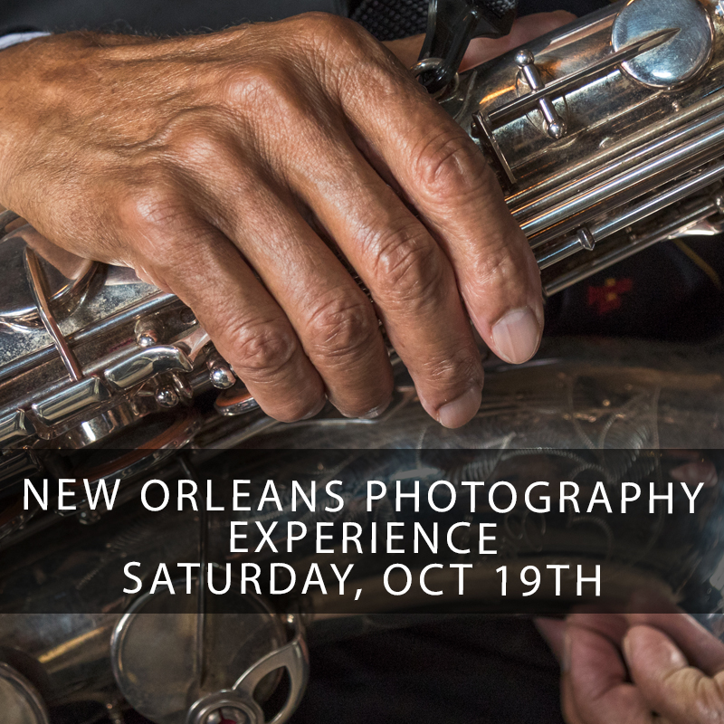 New Orleans Photography Experience - Come with me on a full day journey through New Orleans and the surrounding bayou communities to photograph the people and learn the stories directly from the people who make New Orleans unique! Together we will photograph the faces, personalities, architecture, art, and performers of the most culturally rich and unique city in the world. Adventure awaits you in this highly anticipated workshop offering that will sell out faster than normal!