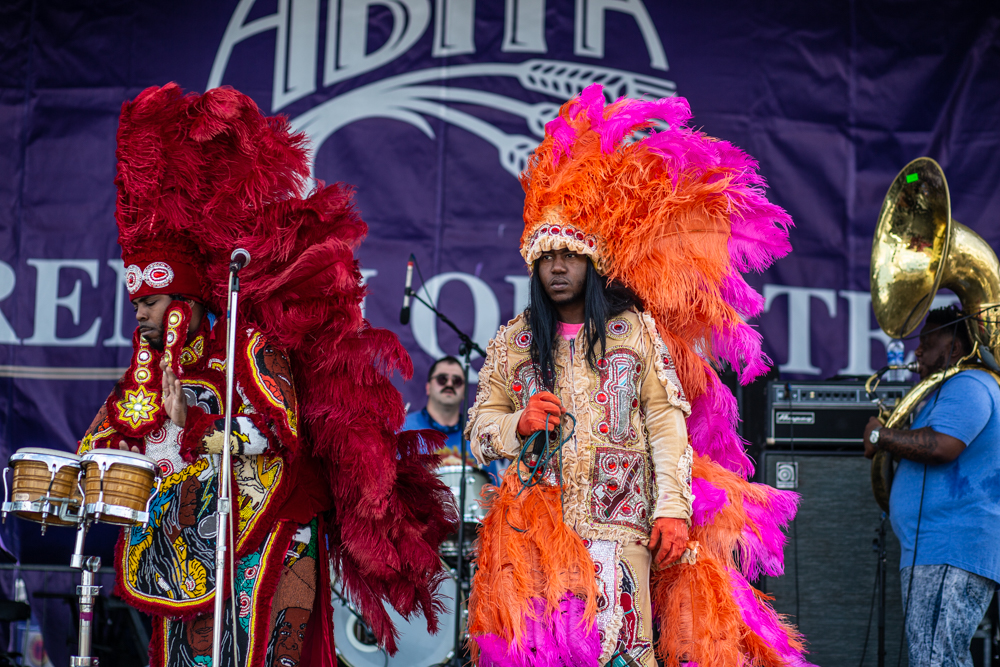 Cha Wa perform at the Abita Stage at French Quarter Fest. ©Zack Smith Photography