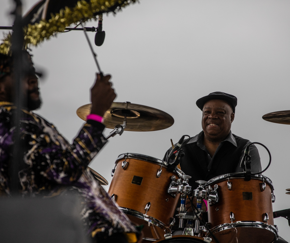 Drummer Joe Lastie is all smiles, as he usually is! If you don't know Joe - GO SEE JOE! ©Zack Smith Photography