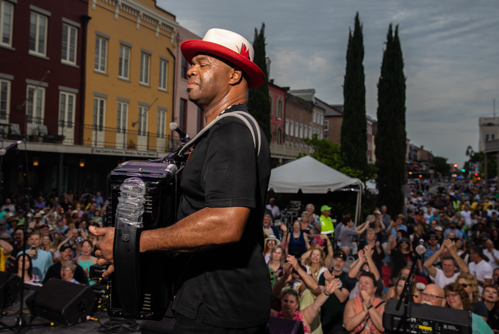 Sunpie Barnes closes out the Chevron Stage. You can ask him too…it was definitely feeling a bit like summer that day. ©Zack Smith Photography