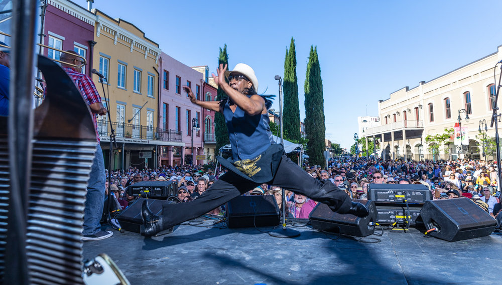 """Rockin Dopsie mid air in a full split? One of my """"bucket list"""" shots…done. What a performer and all around great dude. ©Zack Smith Photography"""