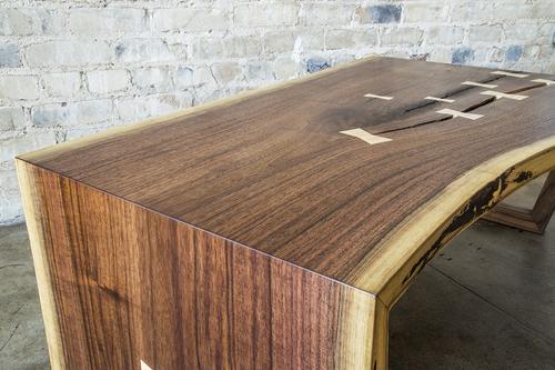 Walnut Slab Waterfall Coffee Table