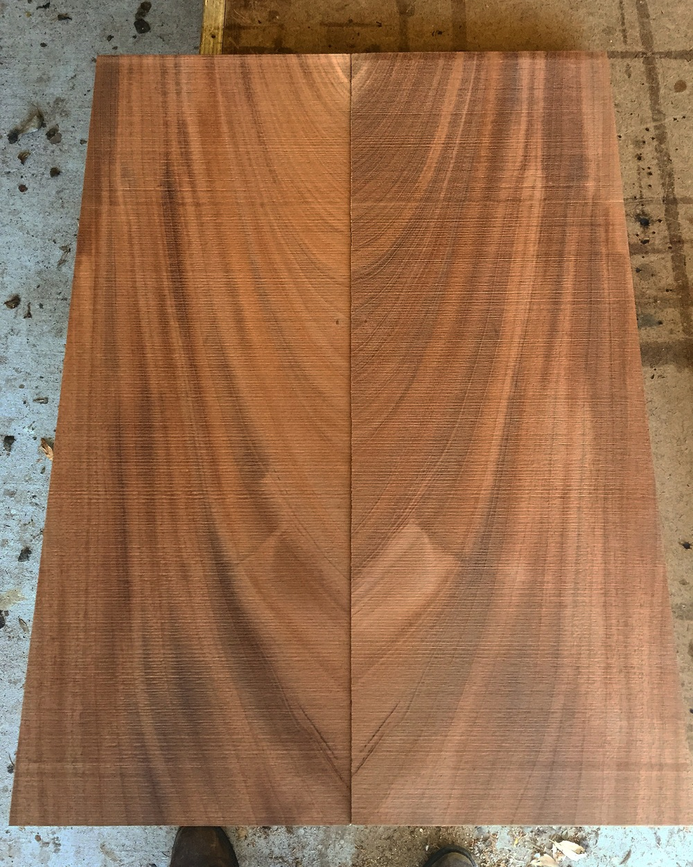 Book Matched Mahogany from Log #588