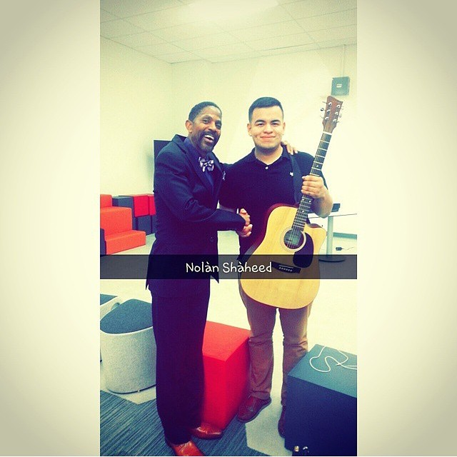 #regram from @pollopolloooo meeting Nolan Shaheed during #playwithmusic #locke