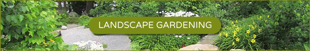 Landscape gardening banner
