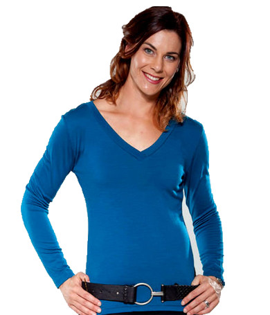Merino -Vee Neck top - 100%