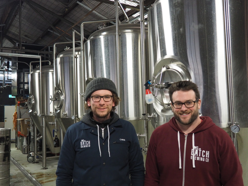 Chris Sidwa and Andrew Fineran at Batch Brewing Co.