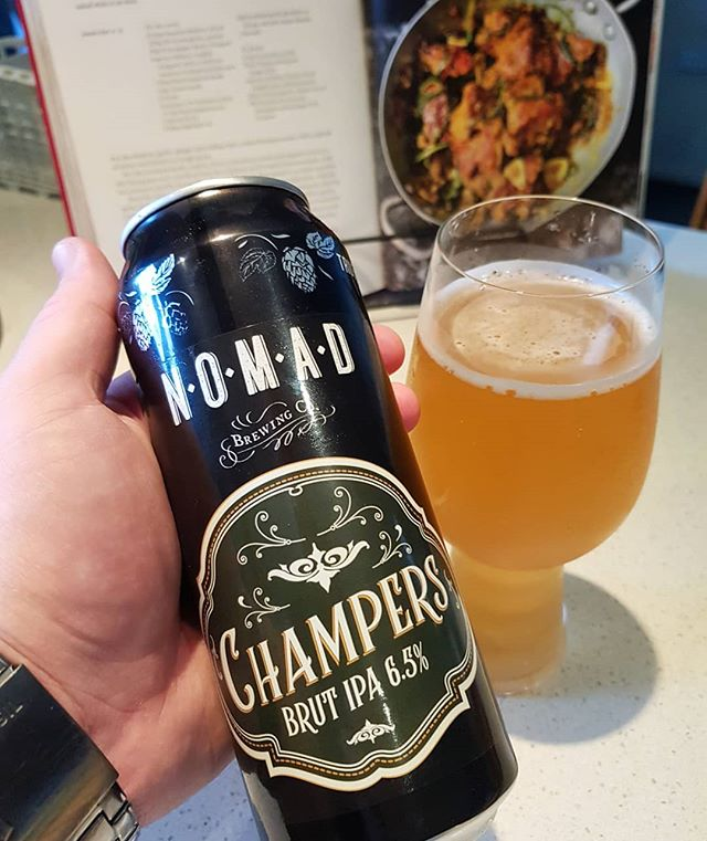 It is with deep sorrow that I must report, I have found a Brut IPA that isn't wet, hot garbage.  @nomadbrewingco have done a stellar job of keeping the bitterness, and more importantly the alcohol level low enough to not completely unbalance the absence of malt.