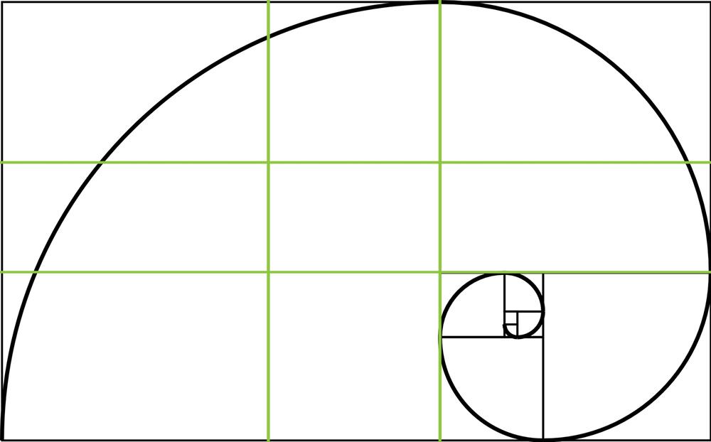Green: Phi Gride | Black: Golden Spiral