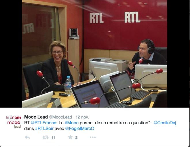 Interview sur RTL soir chez Fogiel le 12 novembre 2014