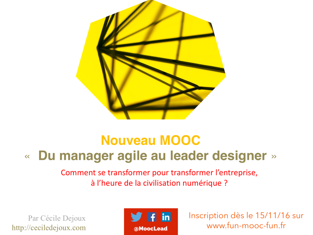 Inscription le 15 novembre 2016 sur  http://www.fun-mooc.fr