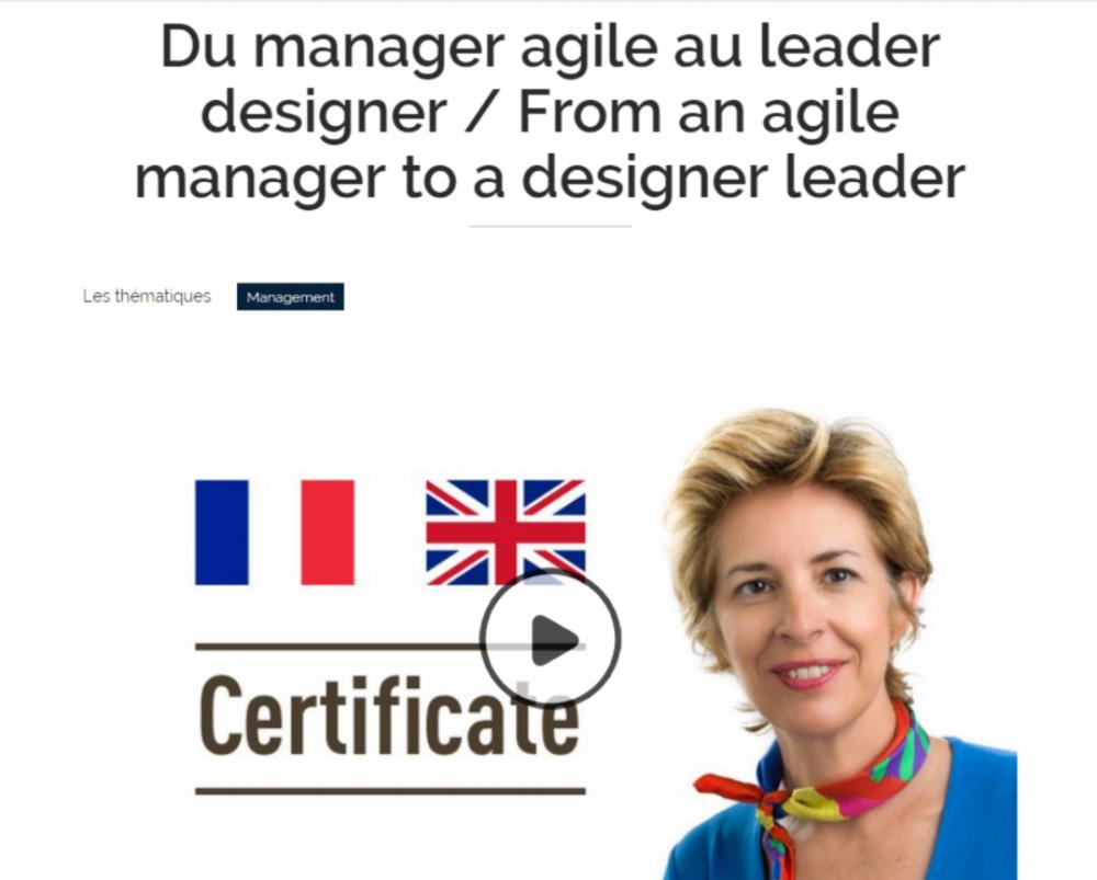 """Inscriptions pour la 5ème édition du Mooc """"Du manager agile au leader design""""."""