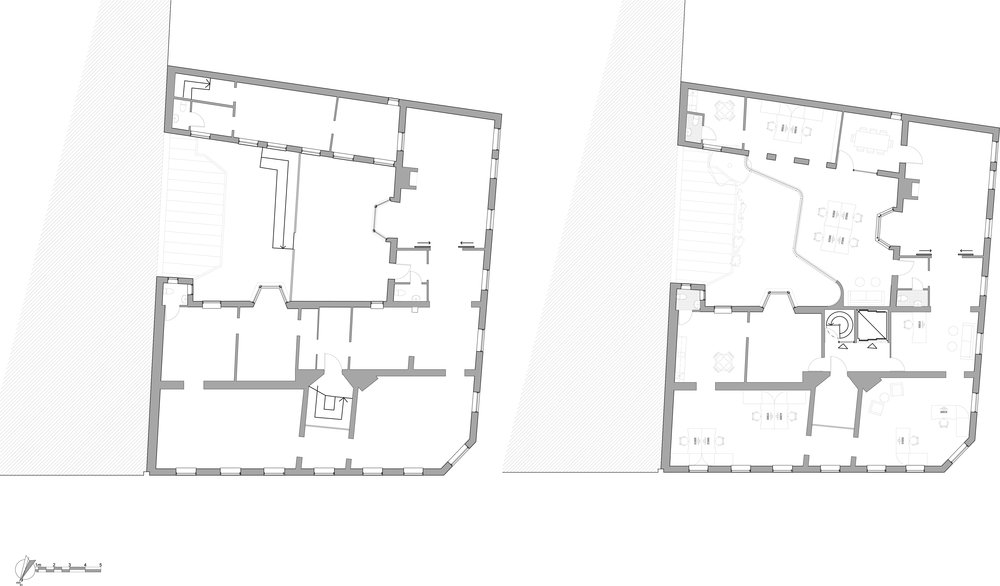 first floor existing                                                                                                               first floor proposed