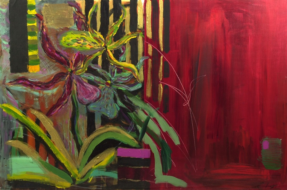 ORCHID ii   acrylic on Arches paper, 78x58cm