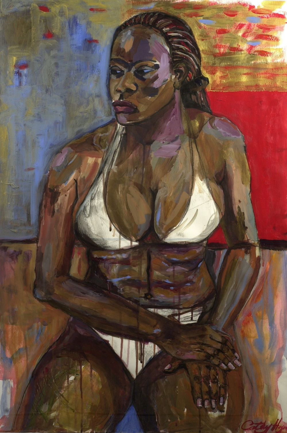 WHITE BIKINI   acrylic on canvas, 60x85cm