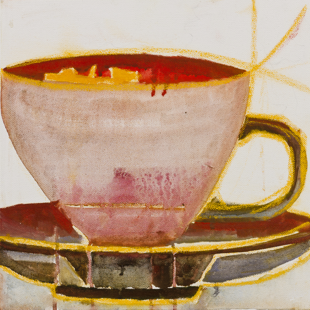TEACUP   oil on canvas, 30x30cm