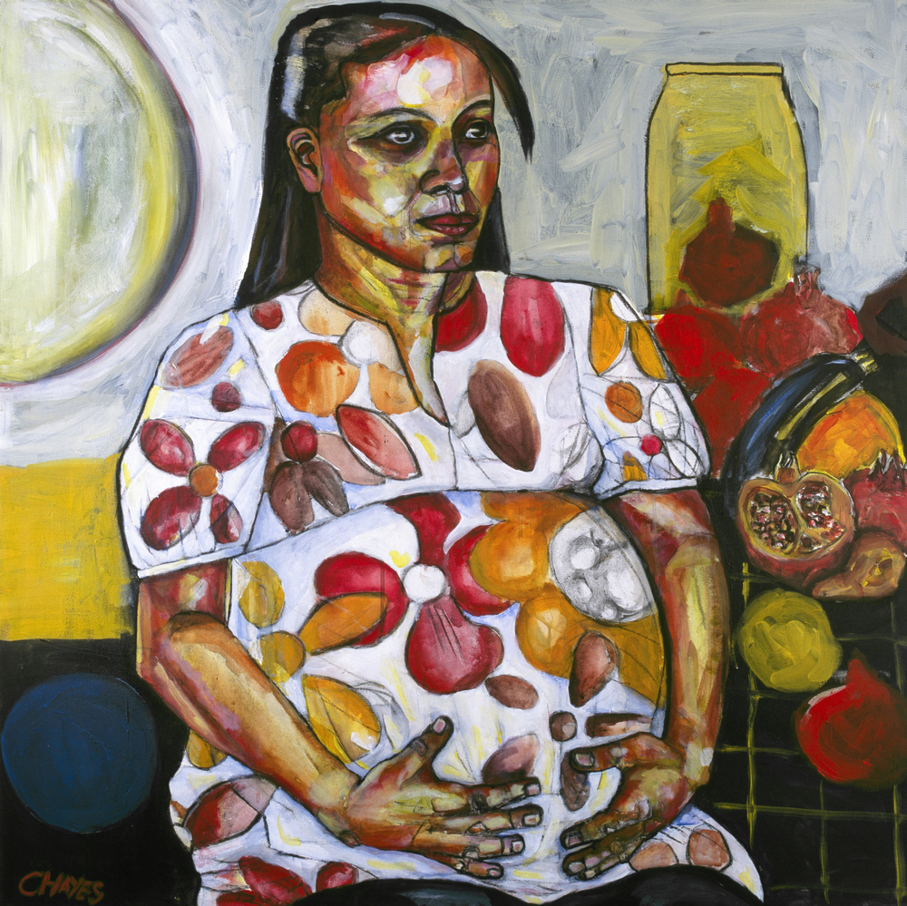 FRUIT OF THY WOMB   oil on canvas, 90x90cm