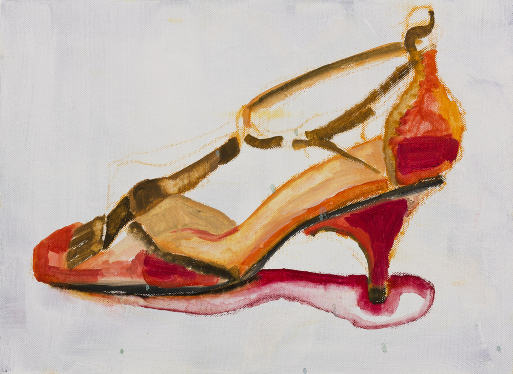 SHOE   oil on canvas, 30x40cm