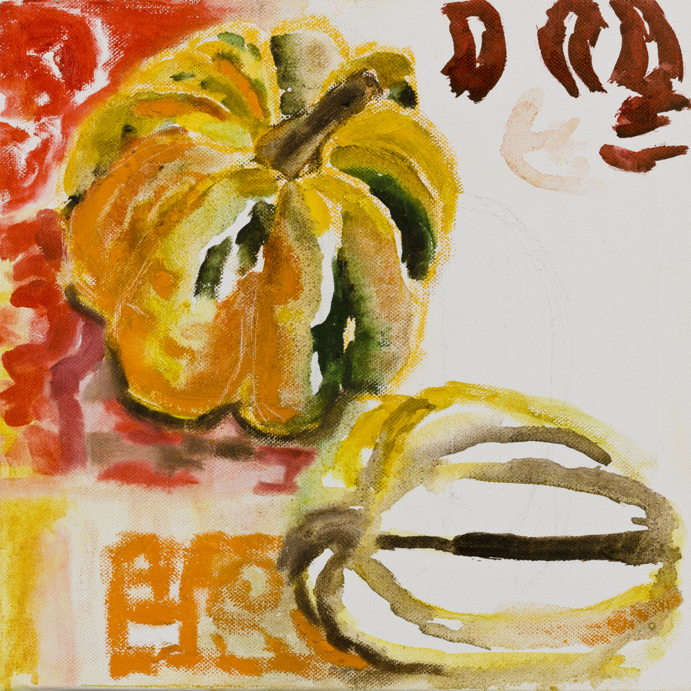 SQUASH   oil on canvas, 30x30cm