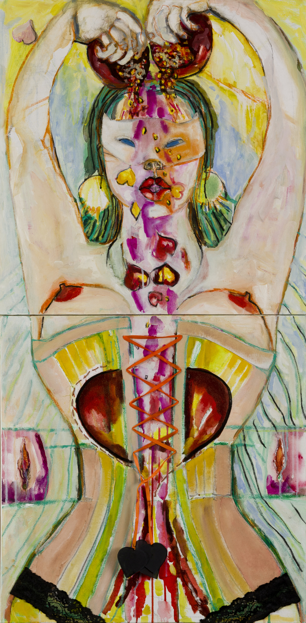 CORSET   oil on canvas, 60x120cm