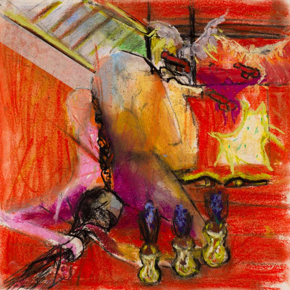 SURPRISE ANNUNCIATION   oil on paper, 30x30cm