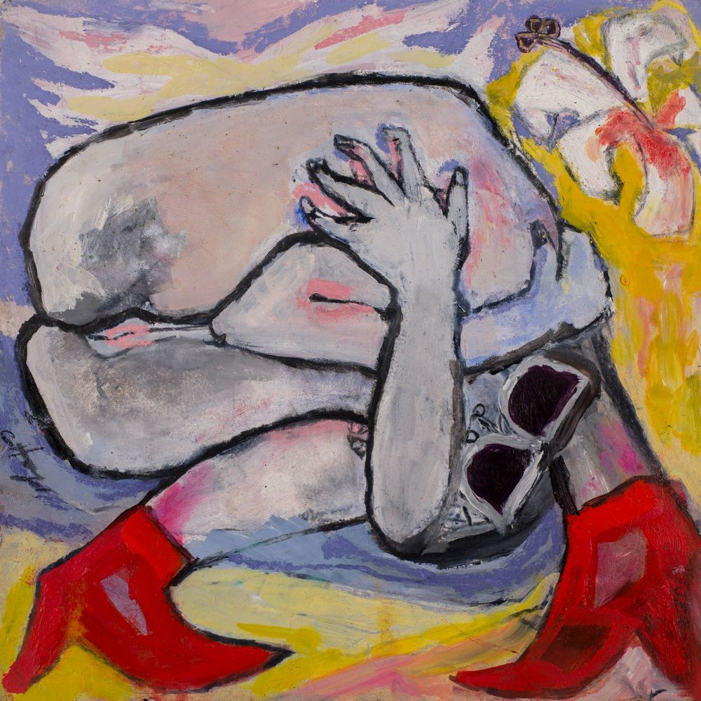 HOLY HYMEN   oil on paper, 30x30cm