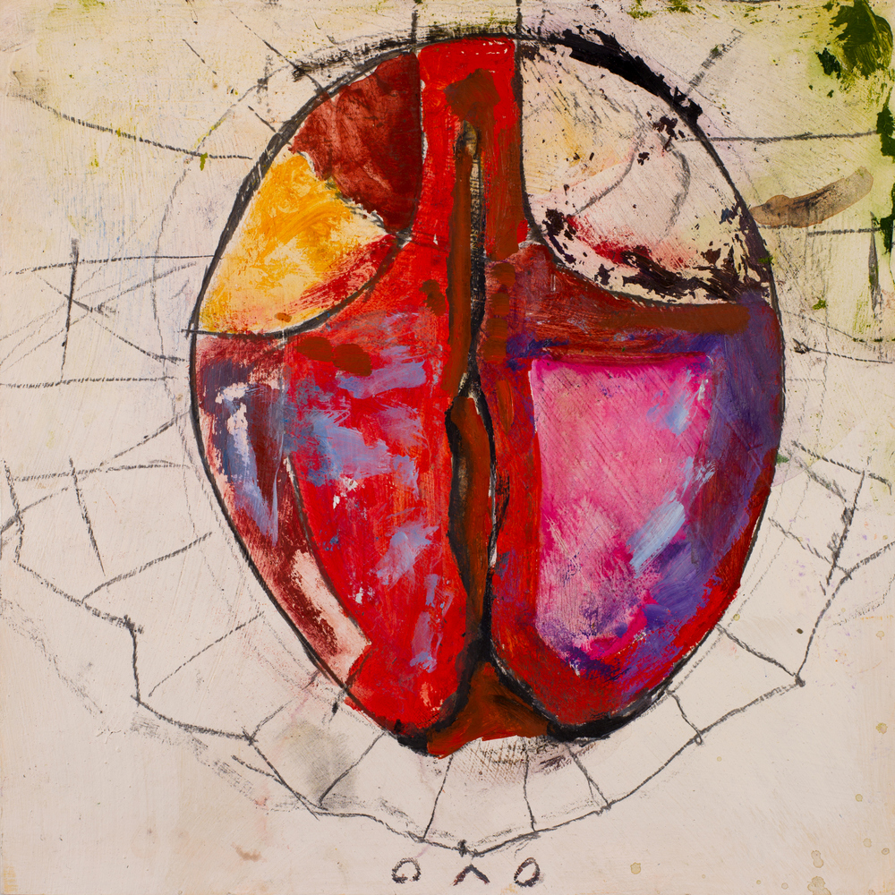 DIVINE OVUM   oil on paper, 30x30cm