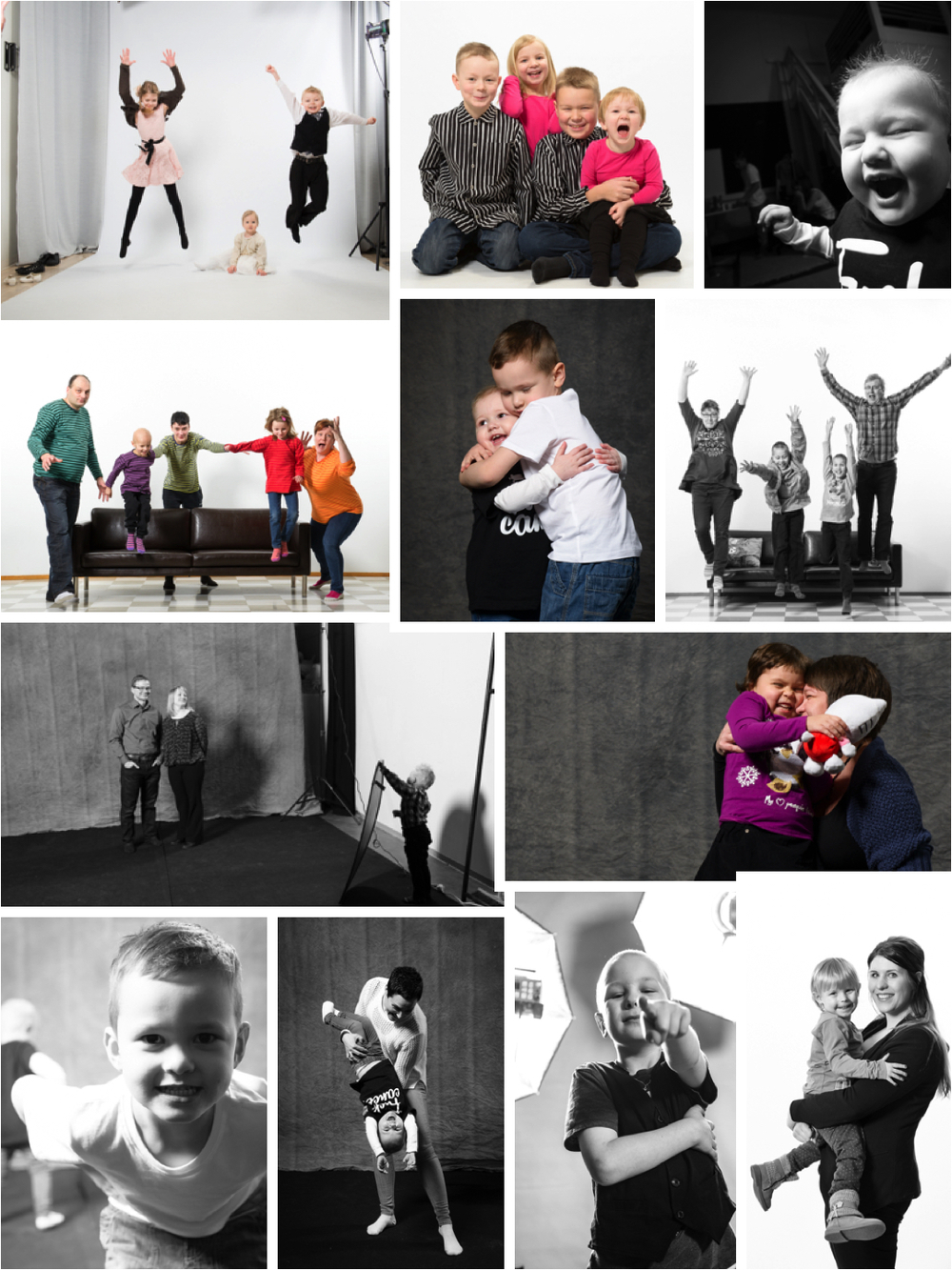 Olennainen osa TAISTELUTARINAT -kuvausta oli perhekuvaus, jonka teimme perheiden kanssa näyttelykuvan ottamisen jälkeen.