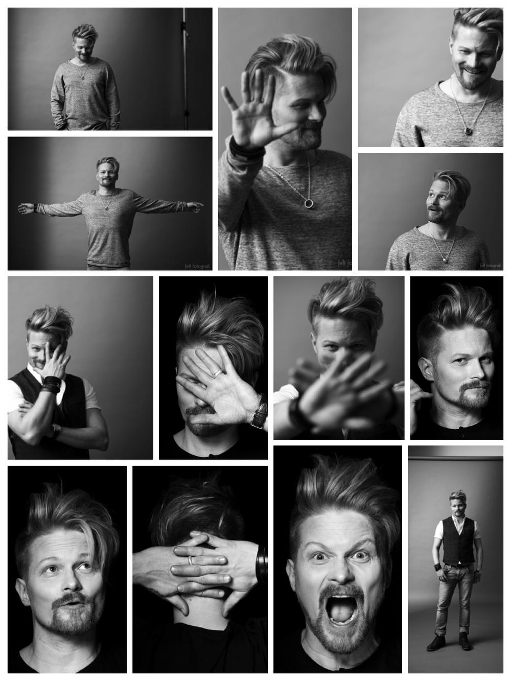 Mika Ikonen Felt Fotografin studiolla.