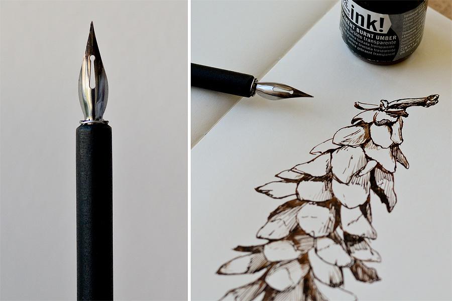 pen ink drawing tips alan li