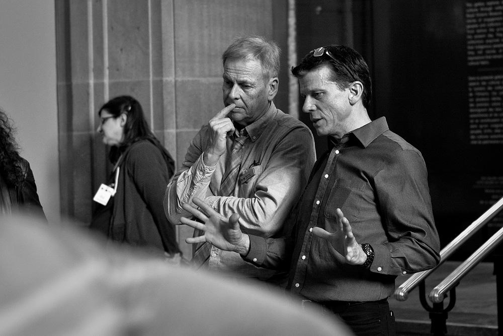 Mark Peck (ROM) and Michael Mesure (FLAP)