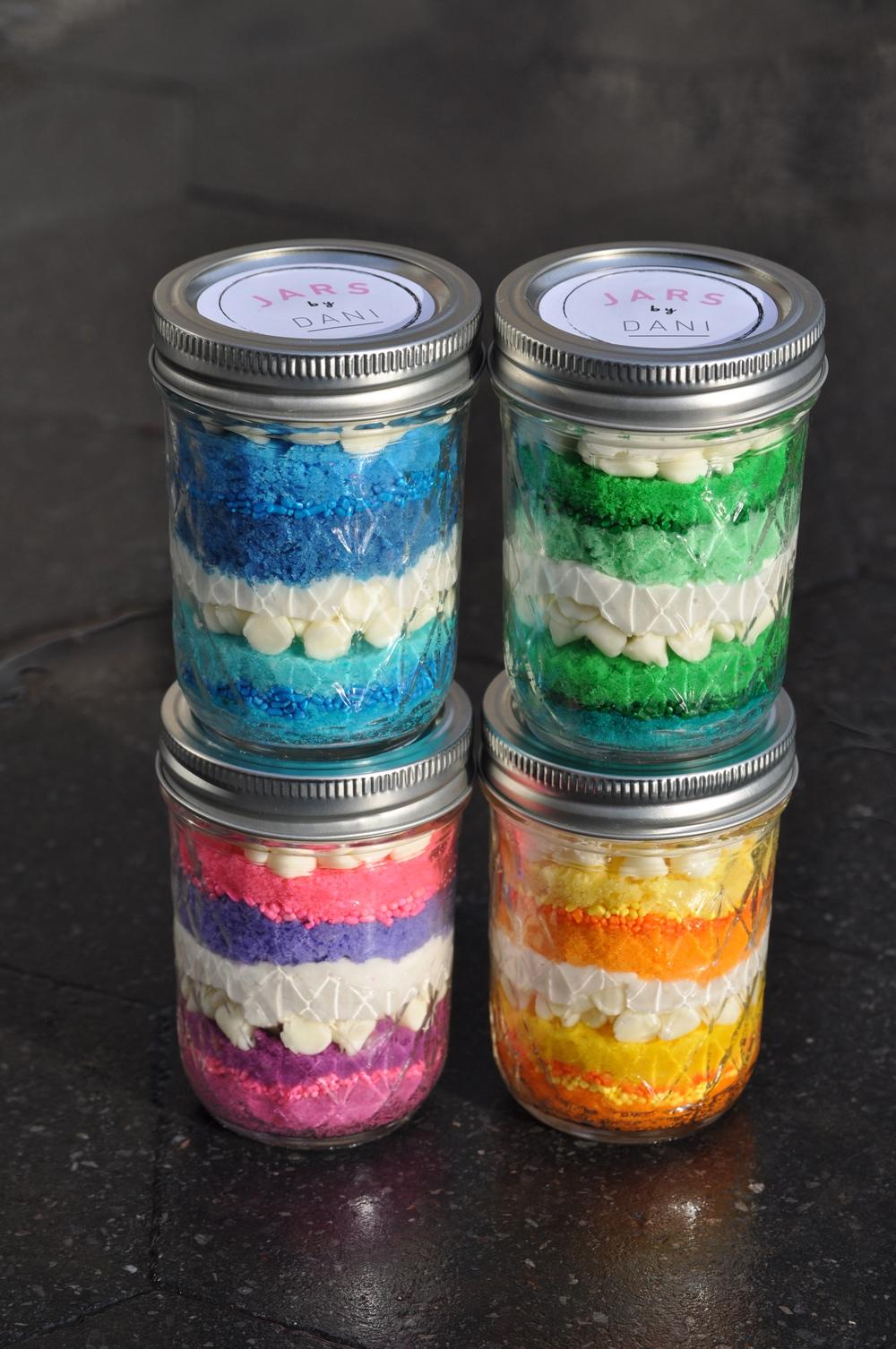 Color Palette Cake Jars