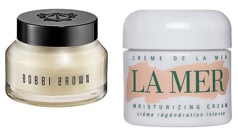Left: Bobbi Brown Vitamin Enriched Face Base, $56. Available at http://www.bobbibrowncosmetics.com Right: La Mer Moisturizing Cream, $160 for 1 oz. Available athttp://shop.nordstrom.com/