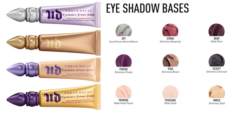 Left: Urban Decay Eyeshadow Primer Potion comes in 4 different shades, $20 for one. Available at http://www.urbandecay.com/ Right: Some shades of Sigma Beauty Eye Shadow Bases, $13 individually and $36 for a set of 3 shades & brush. Available athttp://www.sigmabeauty.com/