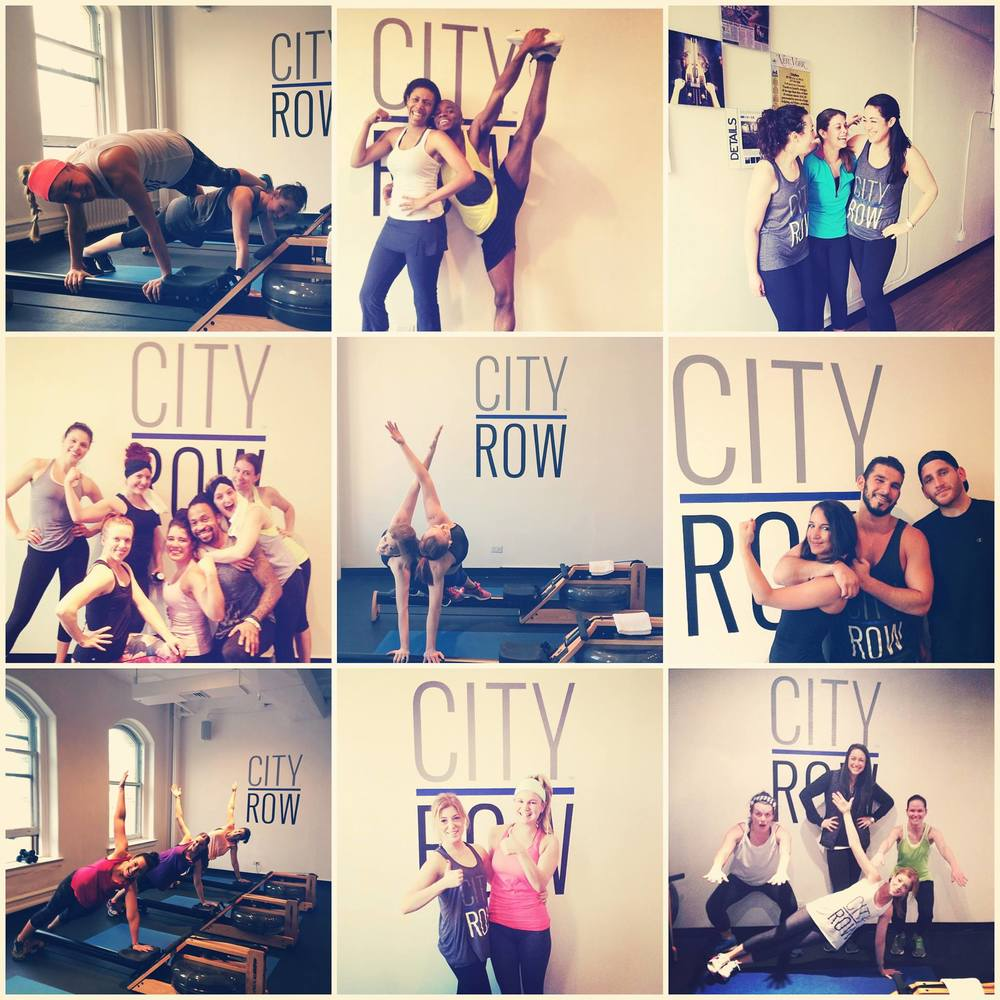 People often show up to CityRow classes with their friends