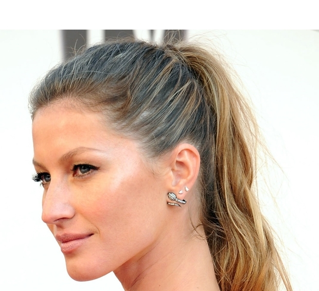 6. For Effortless Chic: a simple ponytail